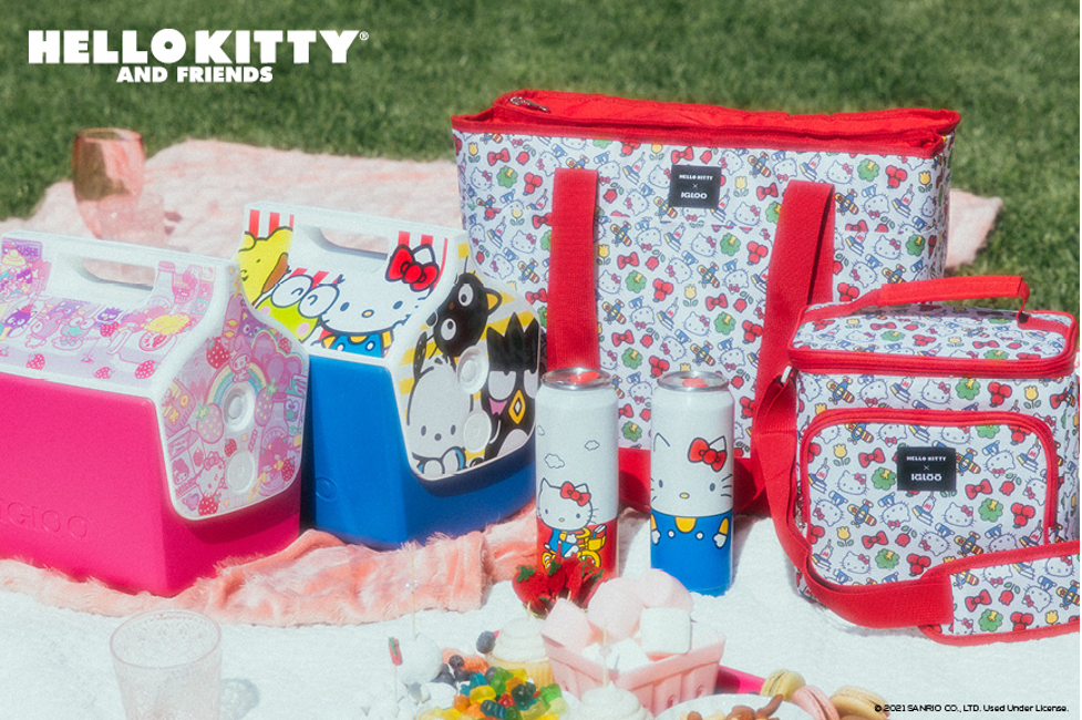 Just in time for summer fun, Igloo and Sanrio have released a new collection of Little Playmate coolers, soft coolers and drinkware inspired by Hello Kitty and Friends.